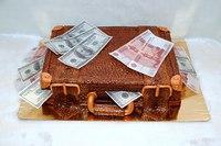 """Торт """"Чемодан с деньгами""""-1"""
