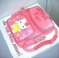 "Торт ""Ранец розовый"""