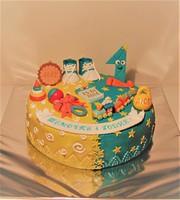 """Торт """"1 год""""-2"""