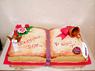 """Торт """"Книга - Последний звонок"""""""