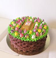 "Торт ""Весенний букет"""